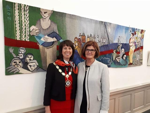 handweavers-guild-cork-Roscommon-international-fibre-arts-festival-2018-councilor-orla-leydon-frances-crowe