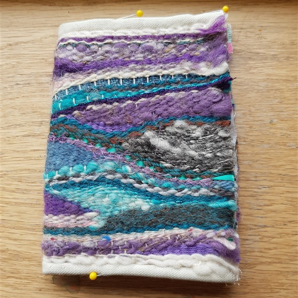 Handweavers-guild-cork-wheres-octobers-nalbinding-pin-weaving-notebook-cover